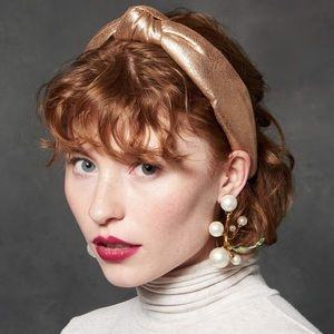 Lele Sadoughi gold headband